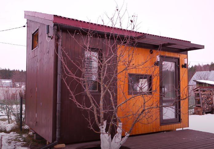 Каркасный мини-дом 13,5 кв м (3х4,5 м)