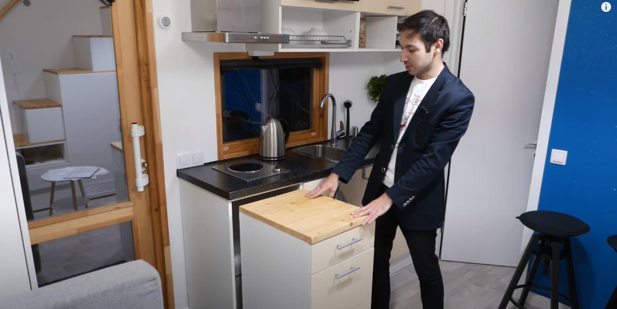 выдвижной шкафчик на кухне