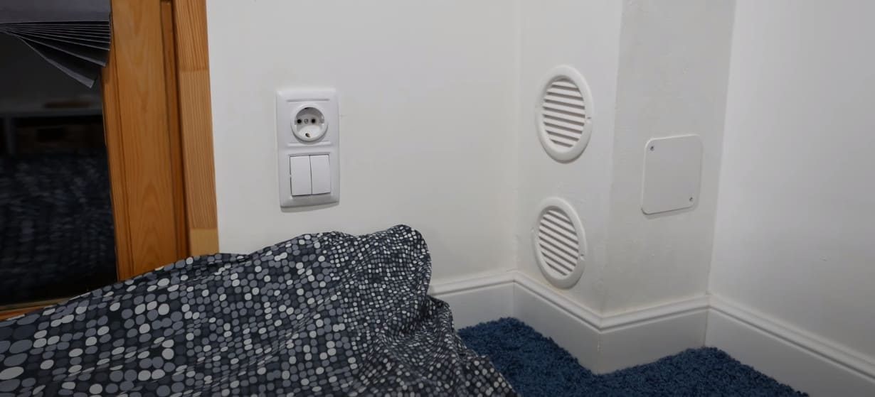 вентиляция с подогревом воздуха в мини-доме